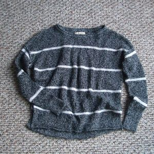 Hollister marled striped chunky knit sweater XS